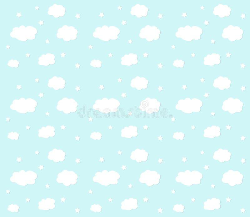 Fond de nuage et d'étoile photo libre de droits