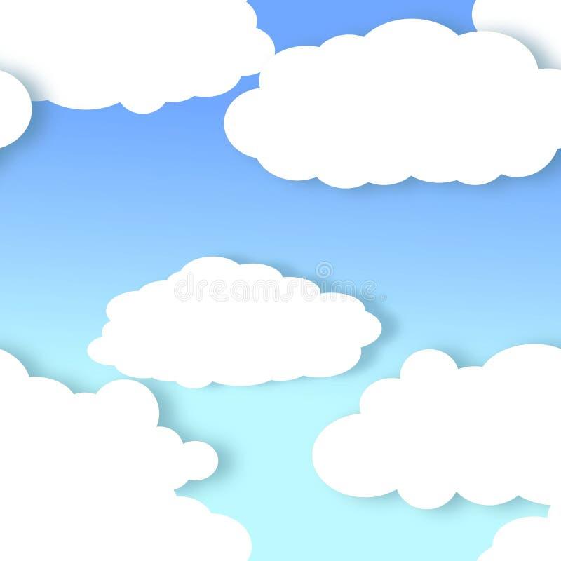 Fond de nuage sans couture illustration stock