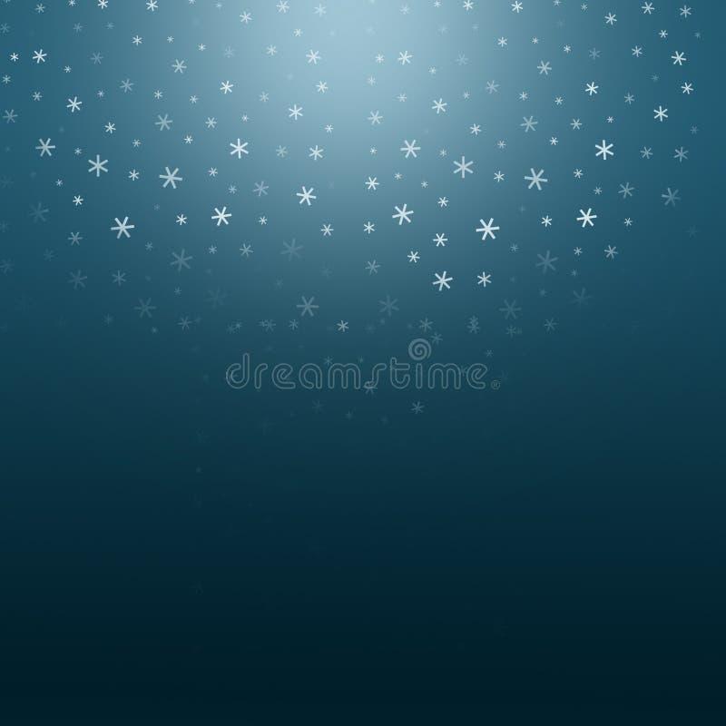 Fond de nuit de Noël illustration stock