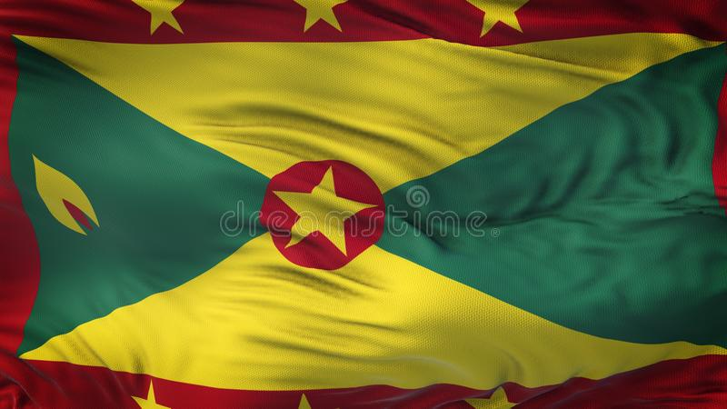 Fond de ondulation réaliste de drapeau du GRENADA illustration stock