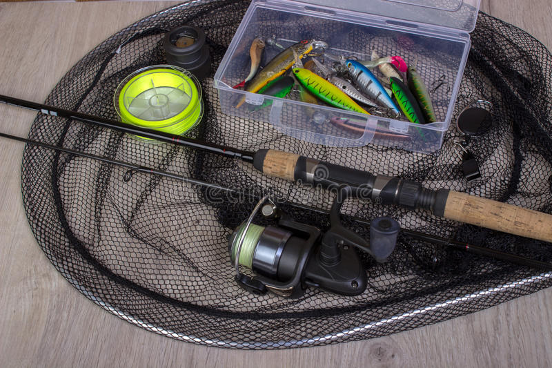 Fond de pêche de sports photographie stock