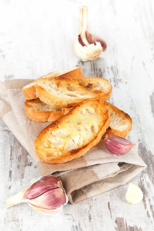 Fond de pain à l'ail. image libre de droits