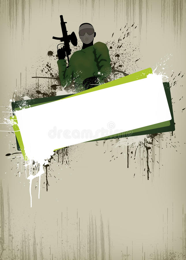 Fond de Paintball ou d'airsoft illustration stock