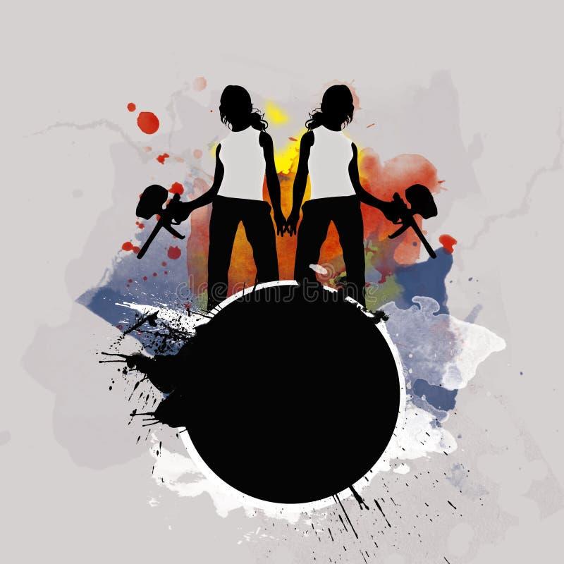 Fond de Paintball ou d'airsoft illustration de vecteur