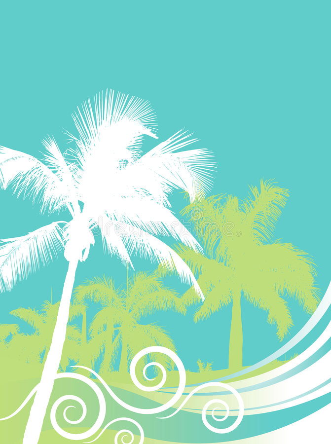 Fond de palmiers illustration libre de droits