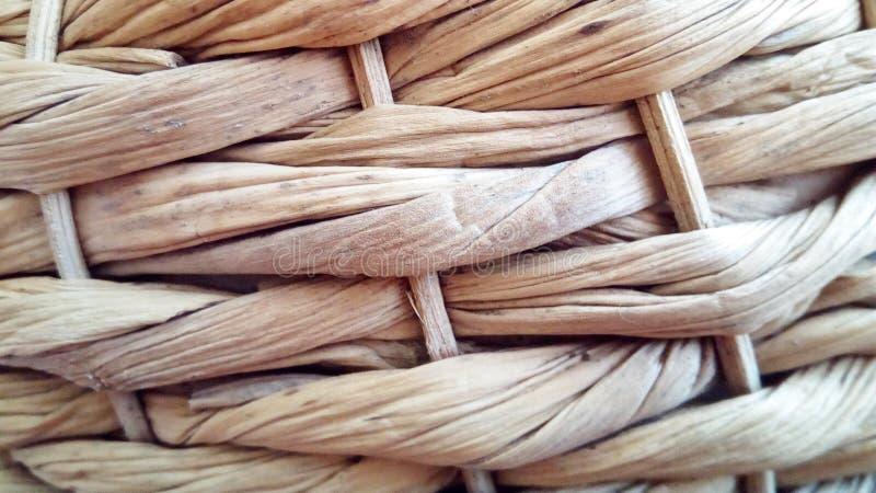 Fond de panier en osier de Brown, texture approximative photos libres de droits
