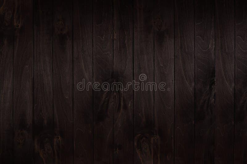 Fond de panneau en bois de vintage de brun foncé Texture en bois images stock