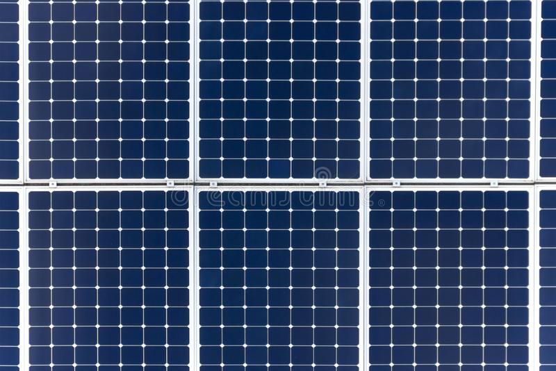 Fond de panneau solaire Plan rapproché photo stock