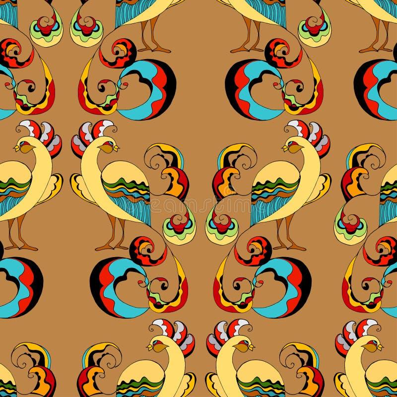 Fond de paons illustration de vecteur