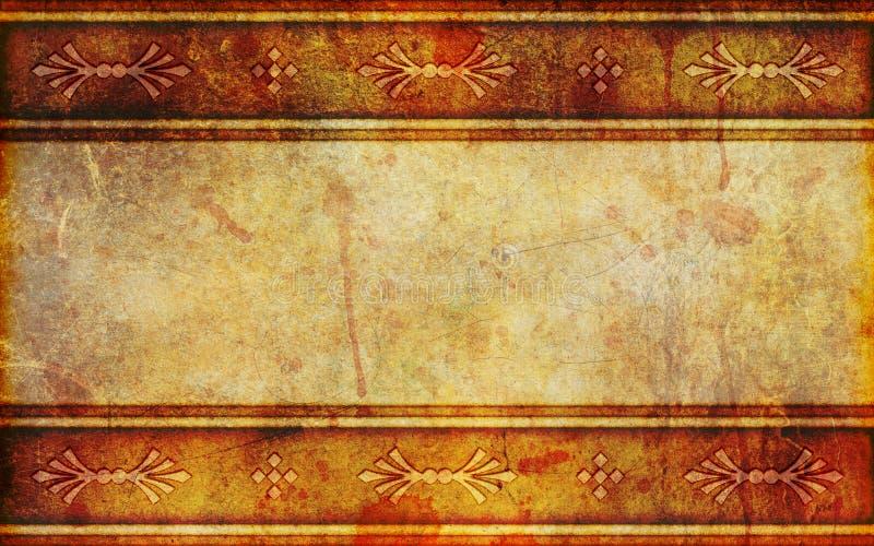 Fond de papier antique avec des configurations de conception illustration libre de droits