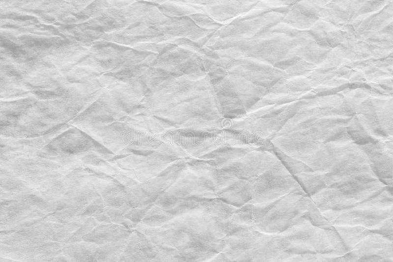 Fond de papier approximatif, texture froissée par blanc plissée photographie stock