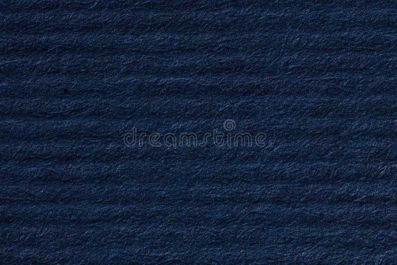 Fond de papier bleu-foncé rayé image libre de droits