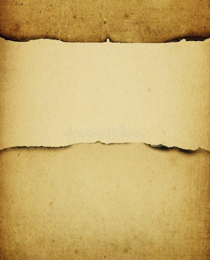 Fond de papier brûlé par cru. illustration stock
