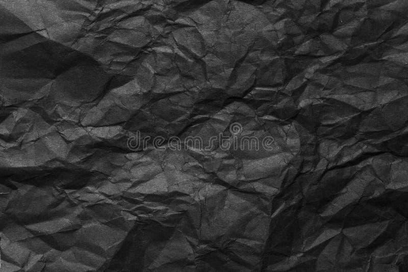 Fond de papier chiffonné par noir images libres de droits