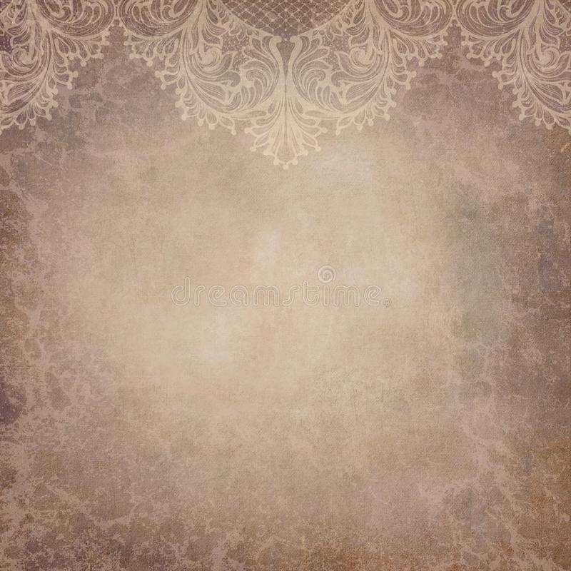 Fond de papier de collage de dentelle de vintage - textures grunges d'aquarelle de détresse victorienne illustration de vecteur