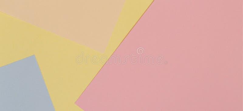 Fond de papier coloré abstrait Papier peint créatif de couleur en pastel de conception de la géométrie images stock
