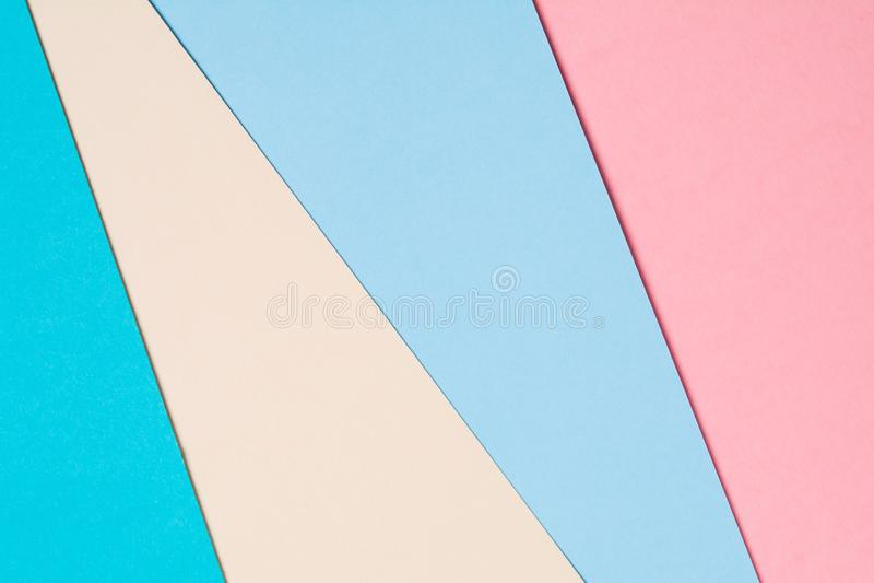 Fond de papier coloré créatif abstrait Configuration plate photos libres de droits