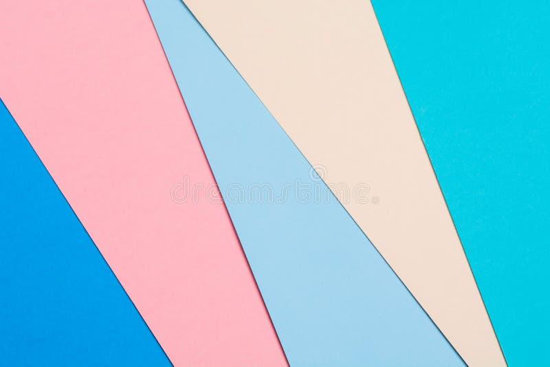 Fond de papier coloré créatif abstrait Configuration plate photo libre de droits