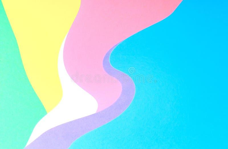 Fond de papier coloré multi onduleux de résumé illustration stock