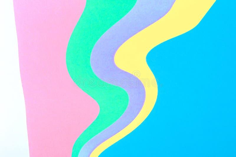Fond de papier coloré multi onduleux de résumé illustration libre de droits
