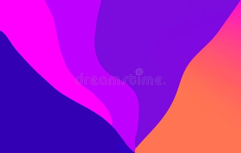 Fond de papier color? multi onduleux de r?sum? illustration de vecteur