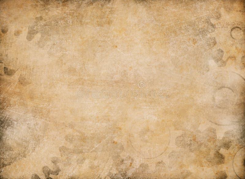 Fond de papier de cru de vitesses et de dents illustration libre de droits