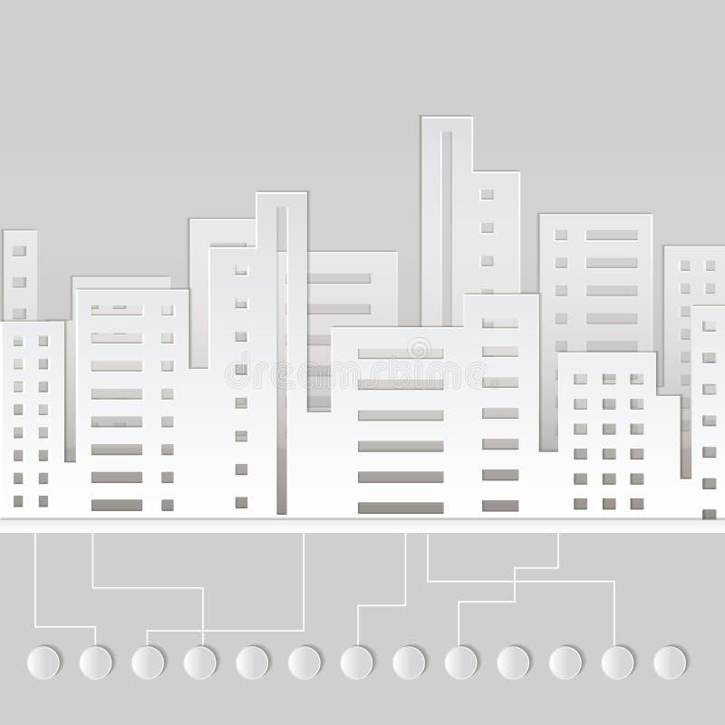 Ville de papier illustration de vecteur