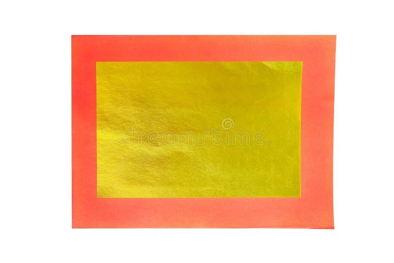 Fond de papier d'or et rouge, résumé créatif graphique photographie stock libre de droits