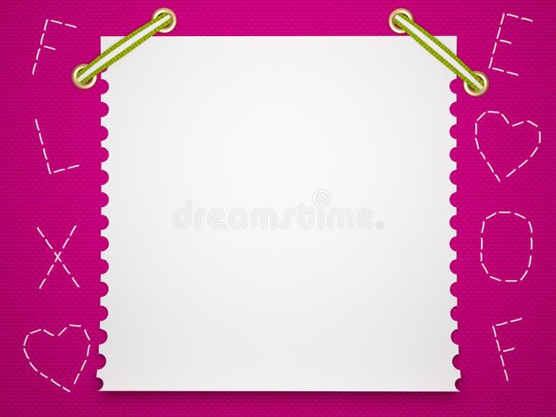 Fond de papier de cahier. Le fond des enfants. illustration stock