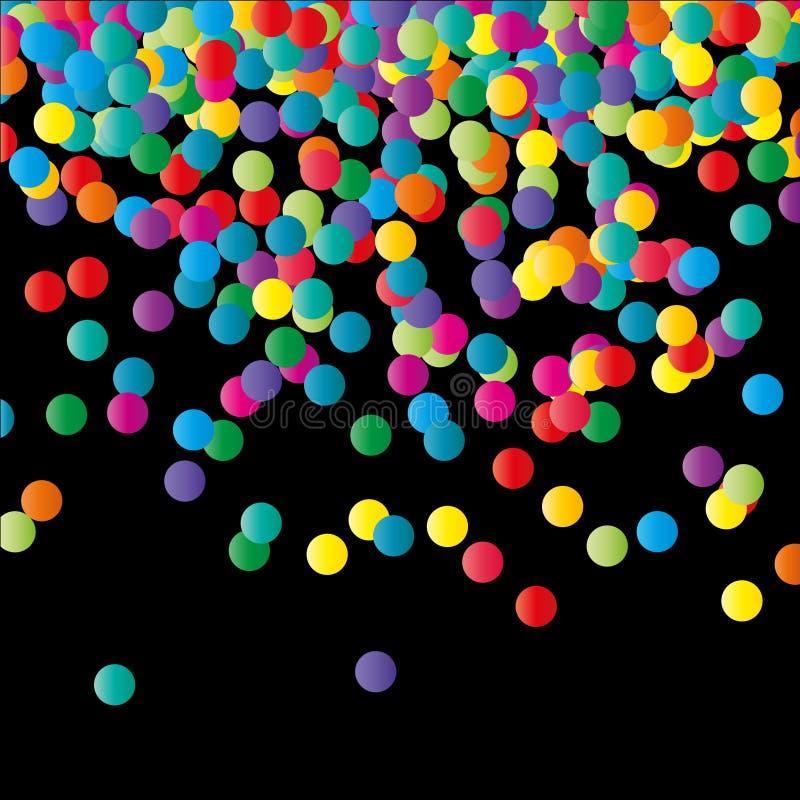 Fond de papier de couleur de confettis. illustration de vecteur
