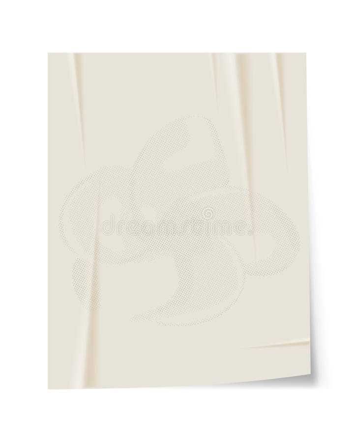 Fond de papier de cru illustration stock