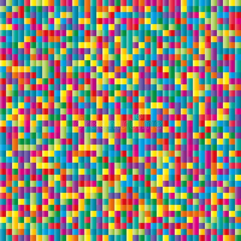 Fond de papier de mosaïque de couleur de confettis. Sans couture illustration stock