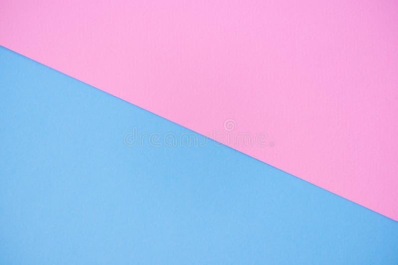 Fond de papier de deux couleurs rose et bleu photos stock