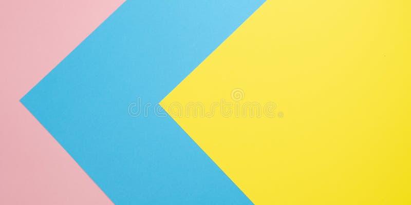 Fond de papier en pastel étendu par appartement Ligne color?e abstraite Fond géométrique de concept minimal image libre de droits
