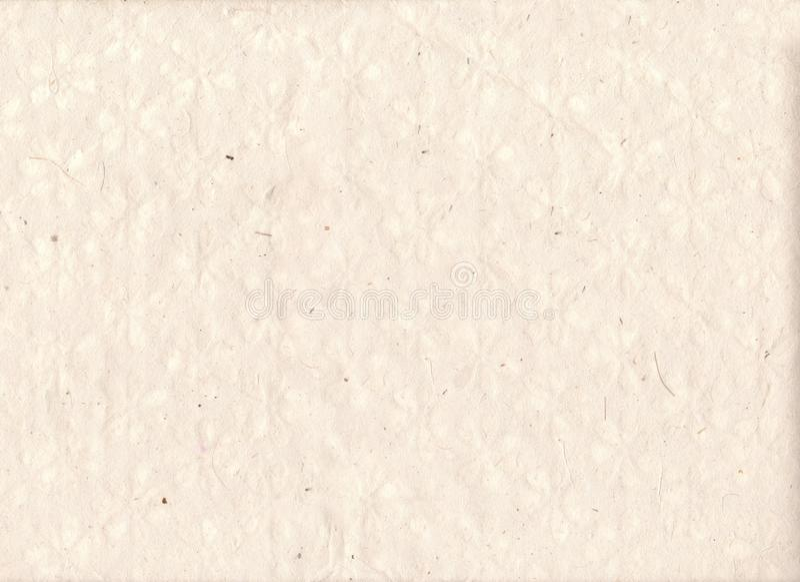 Fond de papier fabriqué à la main avec des textures et des silhouettes d'usine Vieux fond de papier modifié Feuille fabriquée à l photographie stock
