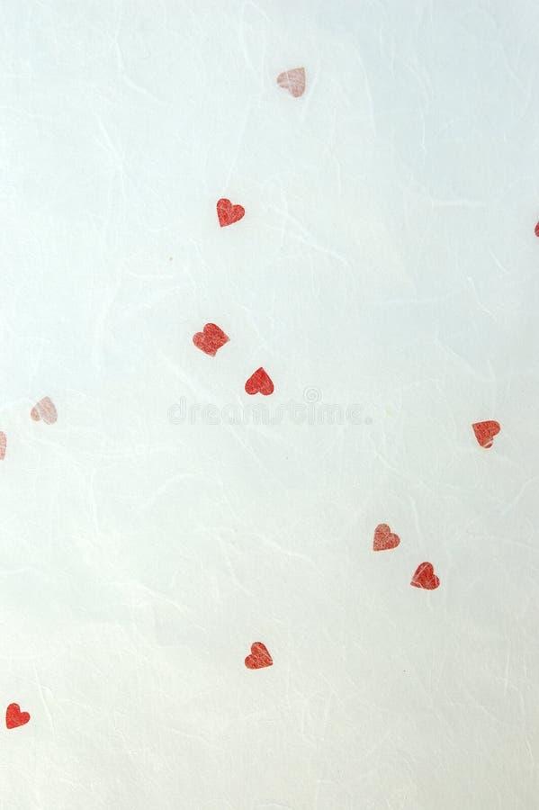 Fond de papier fabriqué à la main de Valentine images libres de droits