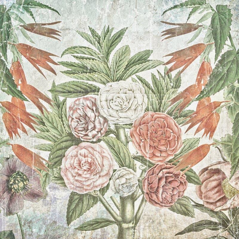 Fond de papier floral de vintage illustration de vecteur