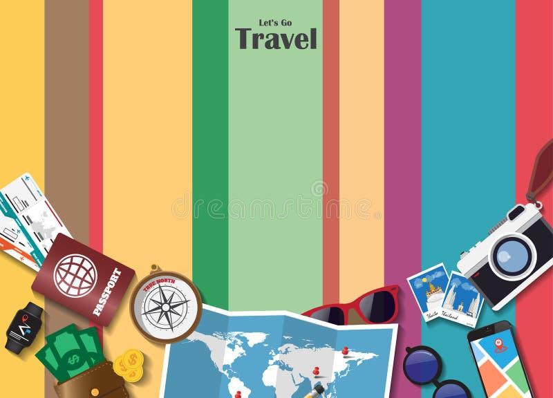 Fond de papier global de voyage et de voyage de point de repère de l'Angleterre Vec illustration stock