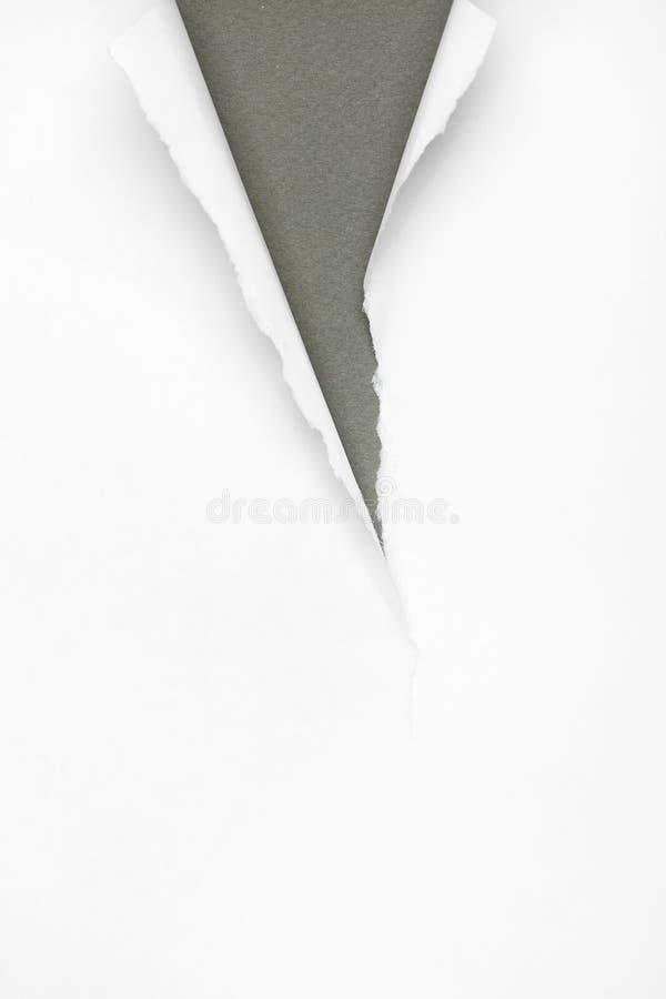 Fond de papier gris criqué image libre de droits