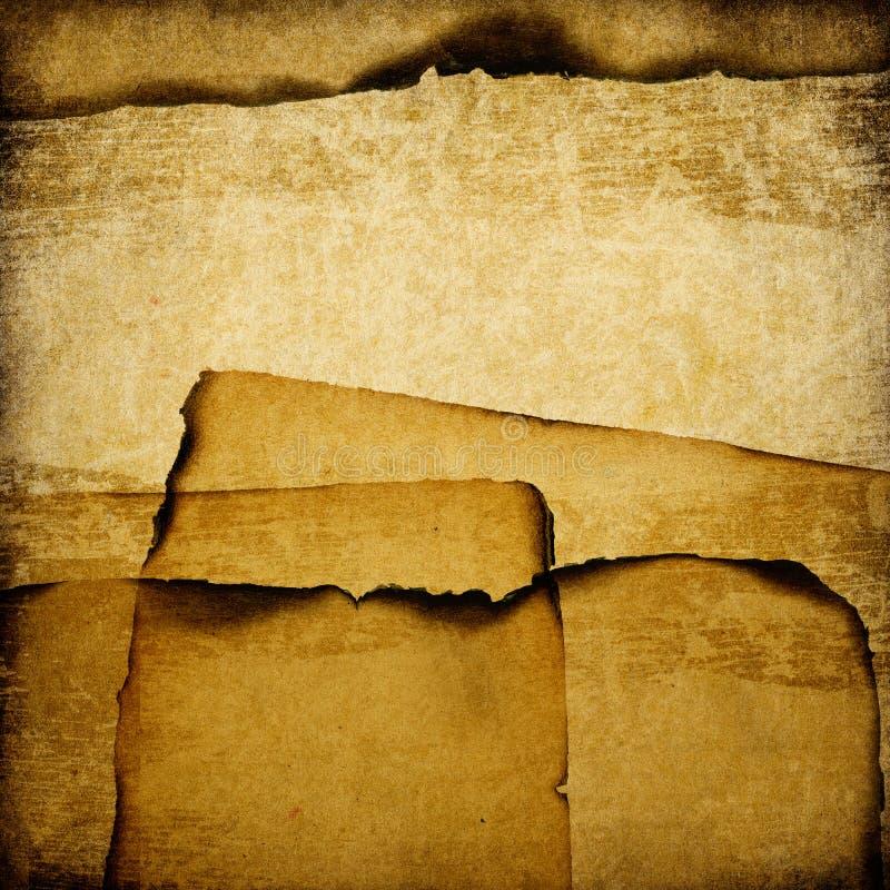 Fond de papier grunge brûlé. illustration de vecteur