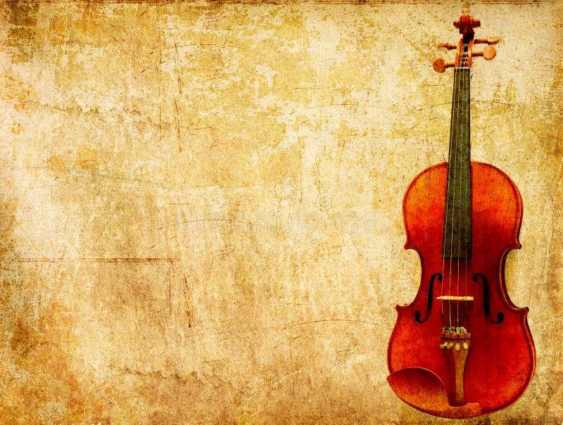 Fond de papier grunge de violon de cru photo stock