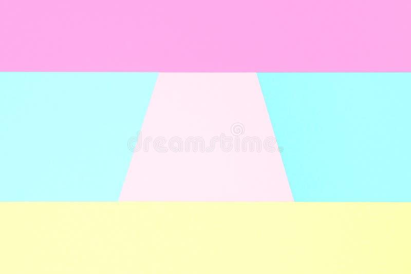 Fond de papier de minimalisme de texture coloré par pastel abstrait Formes géométriques minimales dans des couleurs en pastel photos stock