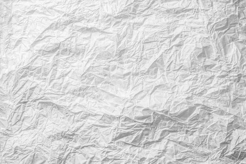 Fond de papier monochrome gris blanc chiffonné de boulangerie photographie stock