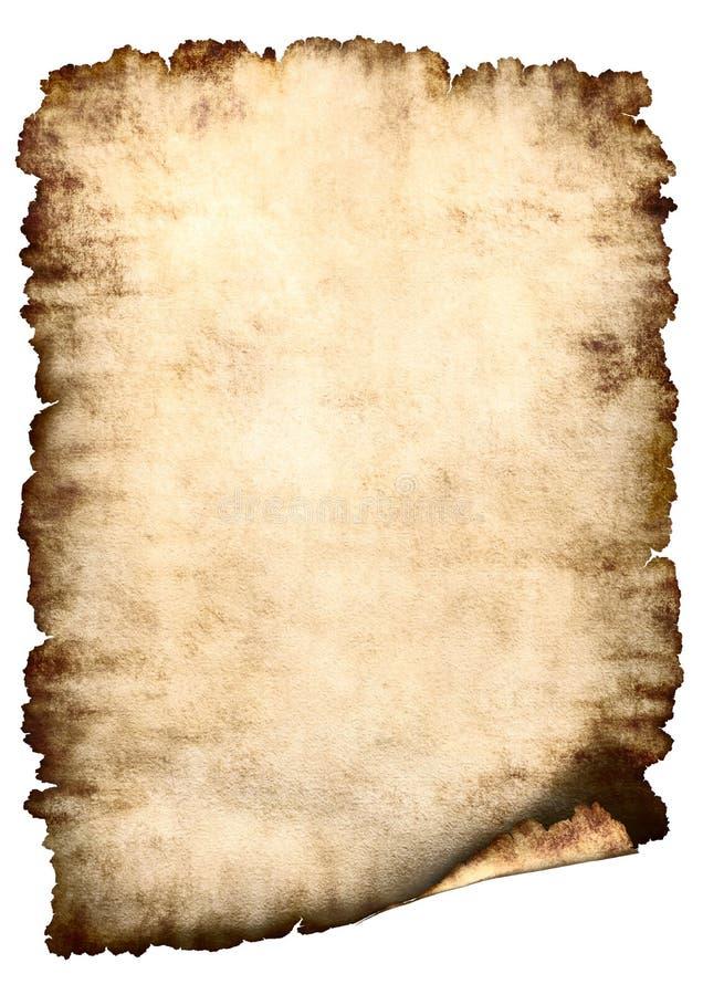 Fond de papier parcheminé images libres de droits