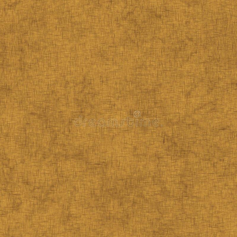 Fond de papier parcheminé, texture brune de toile illustration libre de droits