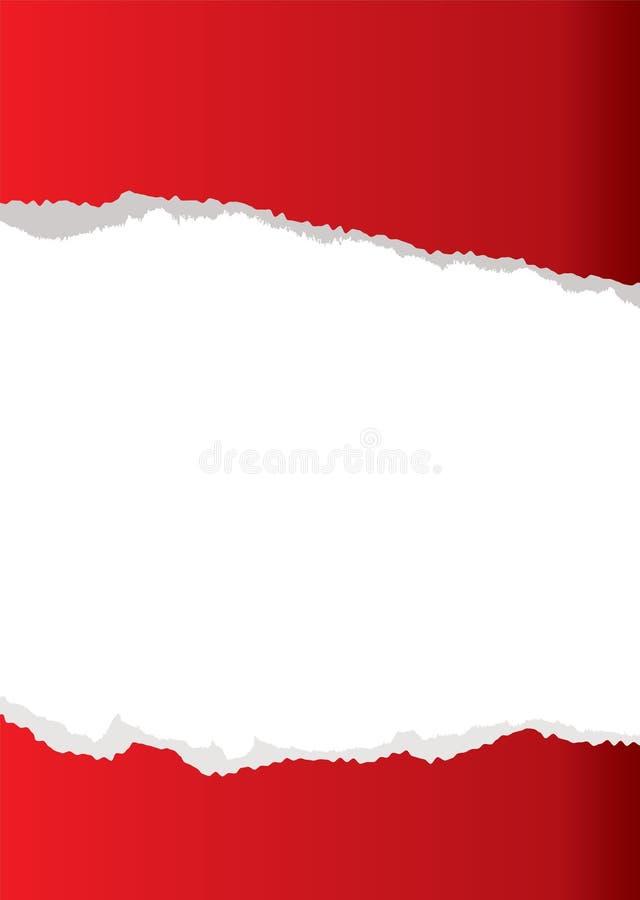 Fond de papier rouge de larme illustration de vecteur