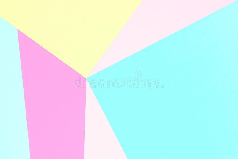 Fond de papier de texture coloré par pastel abstrait Formes et lignes géométriques minimales dans des couleurs en pastel images libres de droits