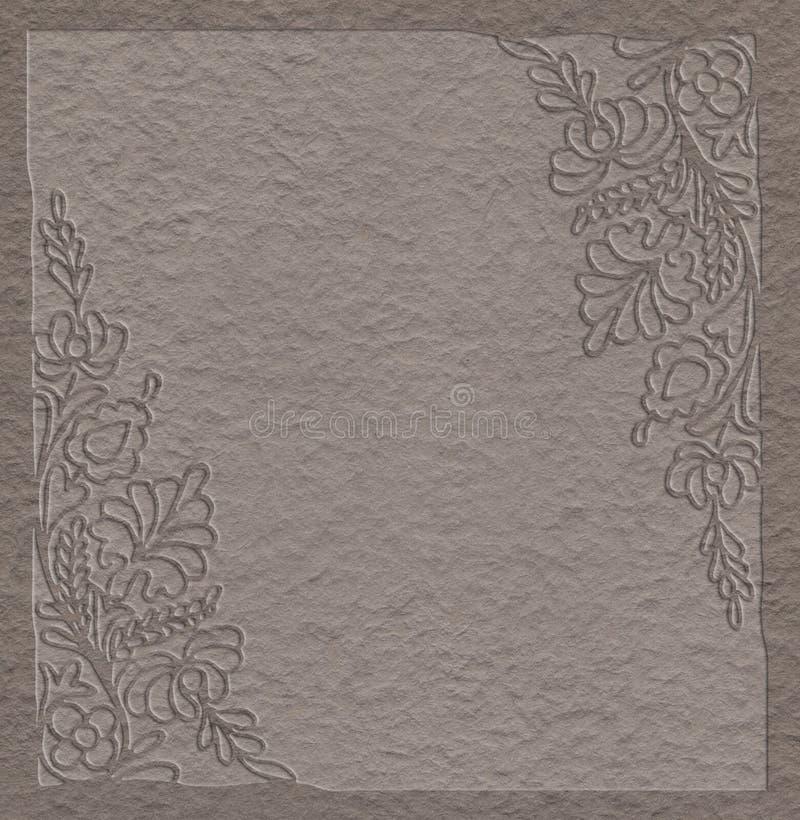 Fond de papier texturisé pour la note illustration stock