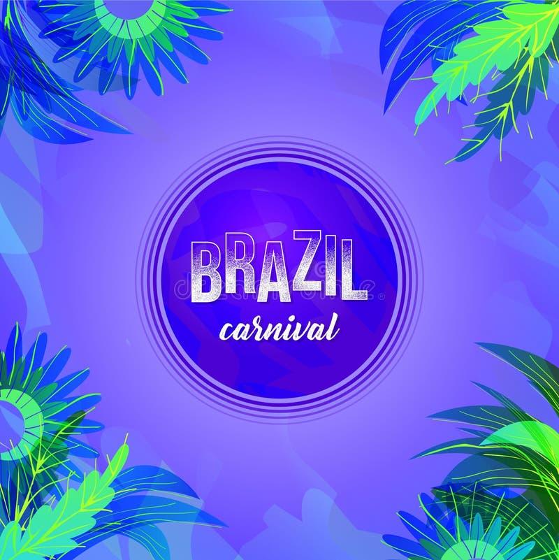 Fond de partie de carnaval du Brésil dans la couleur violette illustration stock