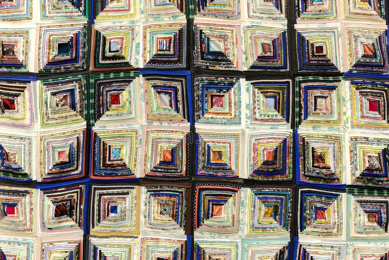 Fond de patchwork fait main coloré images libres de droits